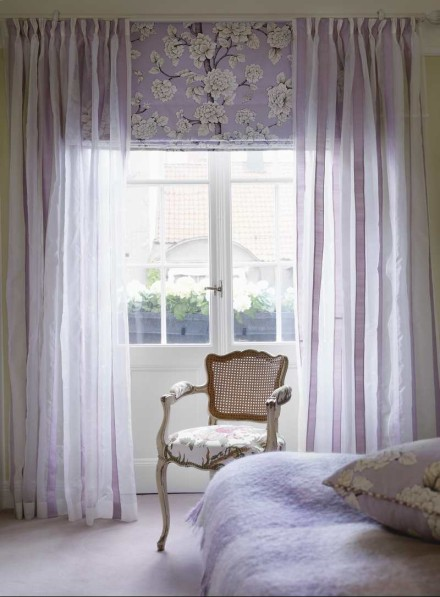Pattern Roman Shades And Sheer Panel Drapes My House