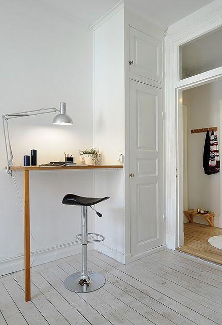 liten arbetsplats malin inredare. Black Bedroom Furniture Sets. Home Design Ideas