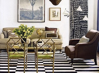 Black & white rug - Nate Berkus Design