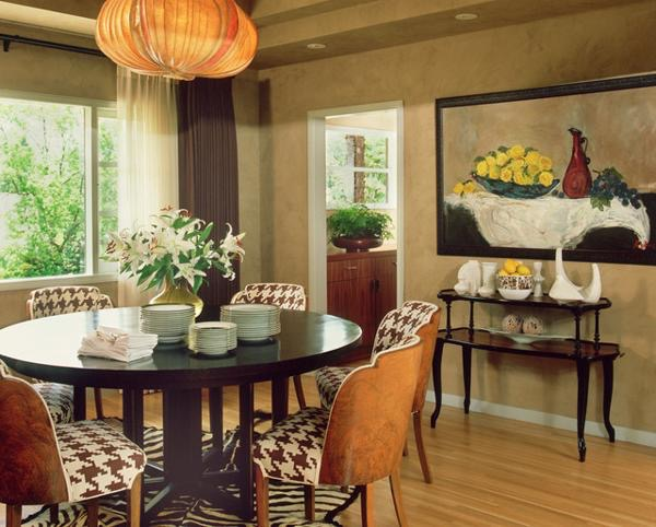 Dining room decorating ideas feng shui interior 1 malin inredare - The round tables as the good dining room interior design ideas ...