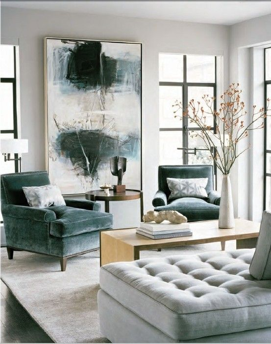 contemporary-elegant-design-of-living-room-with-velvet-chairs-and-sofa-in-different-colors